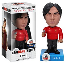 Funko Television The Big Bang Theory: Raj (Star Trek) Wacky Wobbler Bobblehead - Clearance
