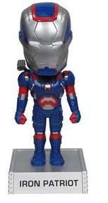 Funko Marvel Iron Man 3: Iron Patriot Wacky Wobbler Bobblehead