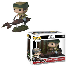 Funko POP! Deluxe Star Wars: Princess Leia w/ Speeder Bike Vinyl Figure