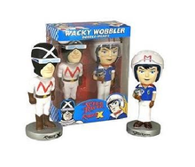 Funko Television: Speed Racer & Racer X Wacky Wobbler Bobblehead 2 Pack - Damaged Box / Paint Flaw