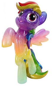 2015 NYCC Funko Hikari My Little Pony: Glitter Color Storm Rainbow Dash Vinyl Figure - LE 600pcs