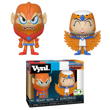 2018 ECCC Funko Vynl. Television Masters Of The Universe: Beast Man & Sorceress Exclusive Vinyl Figure 2 Pack - LE 2500pcs - ECCC Sticker