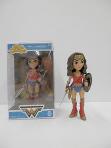Funko Rock Candy DC Comics: Wonder Woman Vinyl Figure (Hot Topic Exclusive / No Sticker) - Warehouse Blowout
