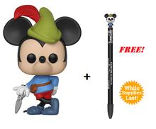Funko POP! Disney Mickey's 90th Anniversary: Brave Little Tailor Vinyl Figure + FREE Pen Topper*