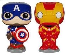 Funko POP! Home Marvel Avengers: Captain America & Iron Man Ceramic Salt And Pepper Shaker Set - Clearance