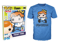2015 SDCC Funko POP! Apparel: 8-bit Pixelated Freddy T-shirt - LE 500pcs - Size: X-Large - Clearance