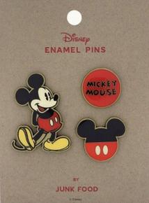 Junk Food™ Disney: Mickey Mouse (Happy) 3pc Enamel Pin Set