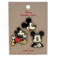 Junk Food™ Disney: Mickey Mouse 3pc Enamel Pin Set