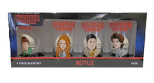 Loungefly Stranger Things: Characters (Version 2) 4pc Pint Glass Set
