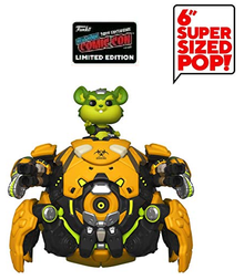 2019 NYCC Funko POP! Games Overwatch: Toxic Wrecking Ball Exclusive 6 Inch Vinyl Figure - NYCC Sticker