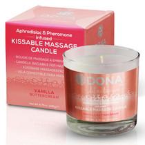 Dona Kissable Soy Massage Candle (Vanilla Buttercream) Net Wt 4.75 Oz / 135 G