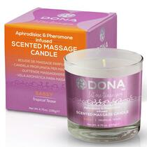 Dona Soy Massage Candle Sassy - Tropical Tease Net Wt 4.75 Oz / 135 G