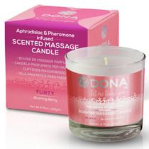 Dona Soy Massage Candle Flirty - Blushing Berry Net Wt 4.75 Oz / 135 G