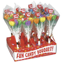 'Let's Fuck' Tulip Candy Bouquet Display