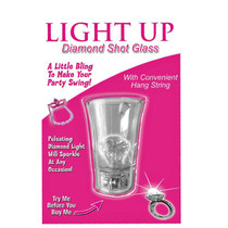 Light Up Diamond Shot Glass With String Clear