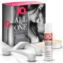 JO All-In-One Massage Glide Kit - Warming (Silicone-Based) 1 fl oz / 30 ml