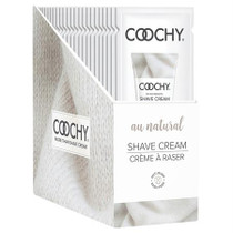 Coochy Shave Cream Au Natural 24pc Display