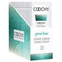 Coochy Shave Cream Green Tease 24pc Foil Display