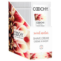 Coochy Shave Cream Sweet Nectar 24pc Foil Display