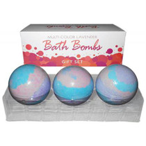 Bath Bomb Multi Color (3pc) Lav Gift Set