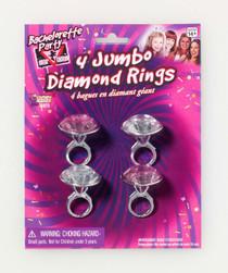 Bachelorette Jumbo Diamond Rings 4pk