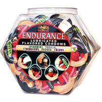 Endurance Lubricated Flavored Condoms Display Bowl