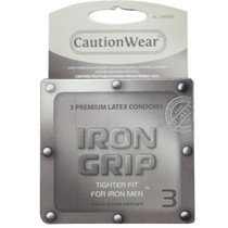 Caution Wear Iron Grip Condoms (3 pack)