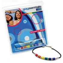 Gaysentials Rainbow Aluminum Tube Bracelet (8 Inches)