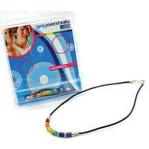 Gaysentials Rainbow Aluminum Tube Necklace (18 Inches)