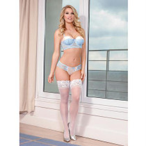 Magic Silk Ever After Bra & Split Crotch Panty Set Blue S/M