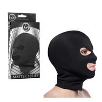 Masters Façade Spandex Hood With Eye and Mouth Holes (Black)