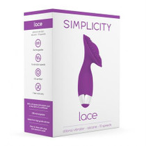 Simplicity Lace Rechargeable - Clitoral Vibrator - Silicone - 10 Speed - Purple