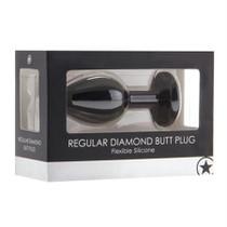 Ouch! Regular Diamond Butt Plug - Black