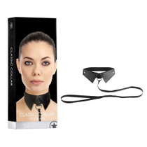 Ouch! Classic Collar with Leash - Black