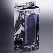 Tom of Finland Single Speed Silicone Med Butt Plug (Black)