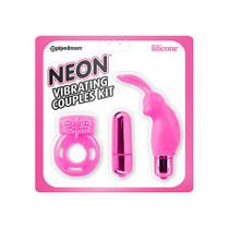 Neon Vibrating Couples Kit Pink