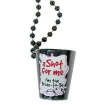 Bachelorette Shot Glass Necklace (Black)