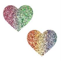 Neva Nude Pasty Heart Glitter Multicolor
