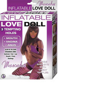 Inflatable Love Doll Mercedes 3 Hole Missionary Position Blow Up Doll (Brown)