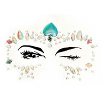 Ariel Adhesive Face Jewels Sticker (6pk)