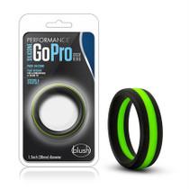 Performance - Silicone Go Pro Cock Ring - Black/Green/Black