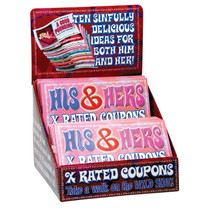 His & Hers X-Rated Coupons (Display of 36)