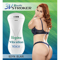 3v Talking and Vibrating Starlet Stroker Edyn Blair