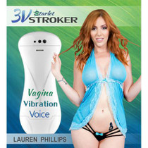 3v Talking and Vibrating Starlet Stroker Lauren Phillips