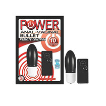 Power Anal-Vagina Bullet (Black)