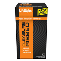 LifeStyles Pleasure Ribbed Condoms (12 pack)