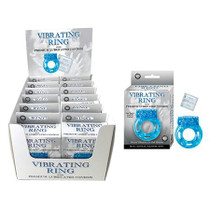 Vibrating Ring With Lubed Condom Counter Display (12/Dp)