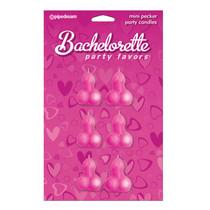 Bachelorette Party Favors Mini Pecker Party Candles - 6pc.