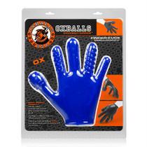 OxBalls Finger Fuck Glove, Police Blue
