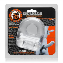 OxBalls 360, Cockring & Ballsling, Clear